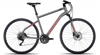 Ghost Square Cross 6 AL Fitnessbike jízdní kolo velikost S urban gray/neon red/black model 2017