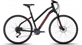 Ghost Square Cross 4 AL Fitnessbike bici completa da donna . black/neon red/urban gray mod. 2017