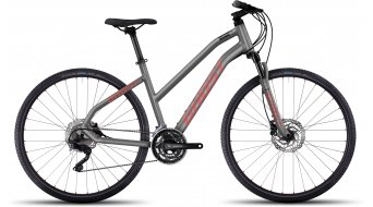 Ghost Square Cross 6 AL Fitnessbike bici completa da donna . urban gray/neon red/black mod. 2017