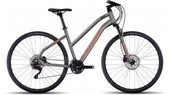 Ghost Square Cross 7 AL Fitnessbike bici completa da donna . urban gray/monarch arancione/black mod. 2017