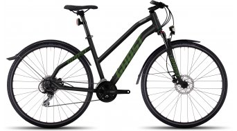 Ghost Square Cross X 3 AL Fitnessbike bici completa da donna mis. S black/riot green/urban gray mod. 2017