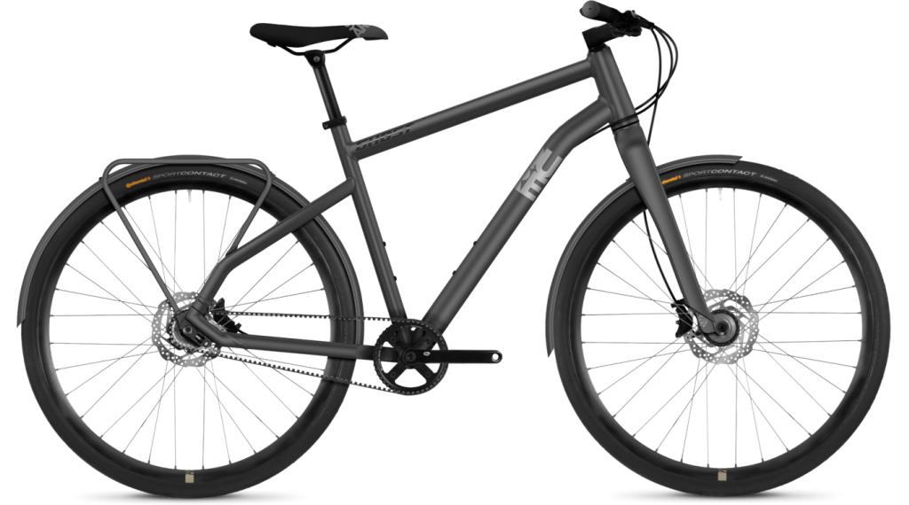 "Ghost Square Urban 5.8 AL 28"" Fitnessbike 整车 型号 XL urban gray/iridium silver/night black 款型 2019"