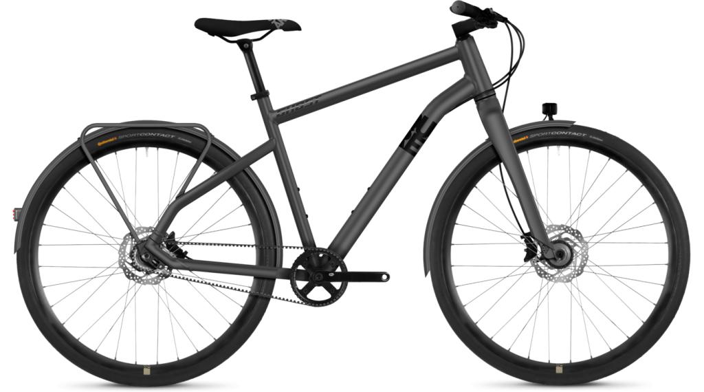 """Ghost Square Urban X7.8 AL 28"""" Fitnessbike 整车 型号 XL urban gray/night black 款型 2019"""