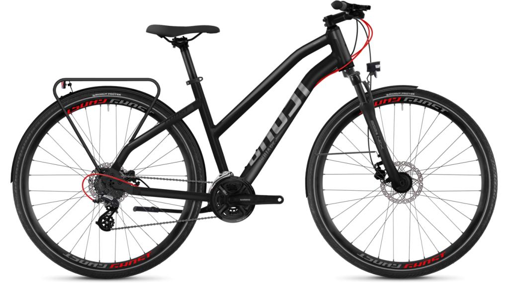 """Ghost Square Trekking 2.8 AL W 28"""" Trekking komplett kerékpár női-Rad Méret L night black/titánium grey 2018 Modell"""