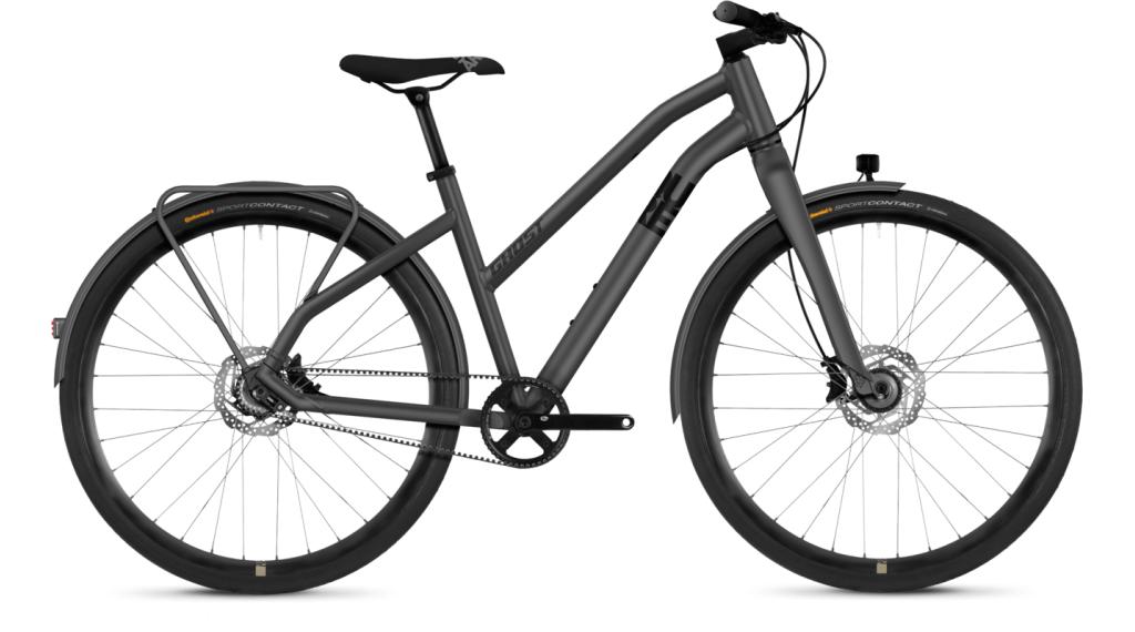 """Ghost Square Urban X7.8 AL W 28"""" Fitnessbike 整车 女士 型号 L urban gray/night black 款型 2019"""