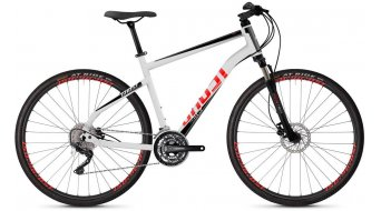 "Ghost Square Cross 2.8 AL and 28"" Fitness bike bike star white/jet black/fiery red 2019"
