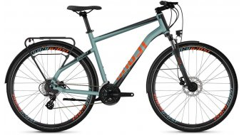 "Ghost Square trekking 2.8 AL en 28"" trekking fiets river blue/jet black/monarch orange model 2019"