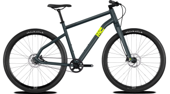 "Ghost Square Times 6.9 AL and 28"" Fitness bike frosted blue/neon yellow 2019"