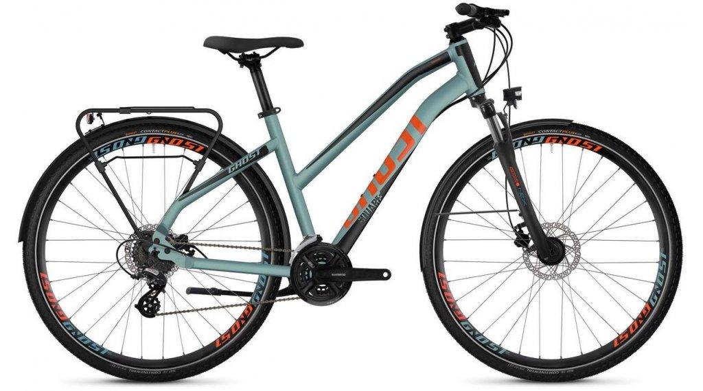 """Ghost Square trekking 2.8 AL W 28"""" trekking bici completa da donna mis. S river blue/jet black/monarch arancione mod. 2019"""