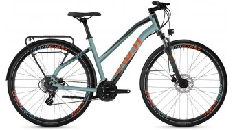 "Ghost Square trekking 2.8 AL W 28"" trekking fiets dames river blue/jet black/monarch orange model 2019"