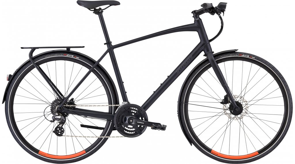 "Specialized Sirrus EQ Black top Ltd 28"" Fitnessbike komplett kerékpár Méret S satin cast black/rocket red 2020 Modell"