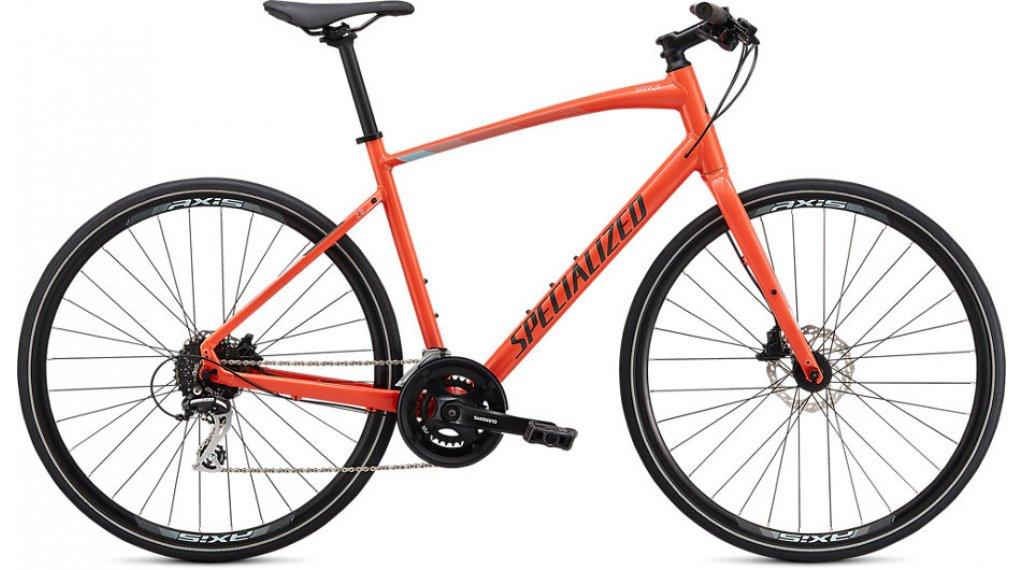 "Specialized Sirrus 2.0 28"" Fitnessbike Komplettrad Gr. XXS vivid coral/summer blue/satin black reflective Mod. 2020"