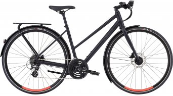 "Specialized Sirrus EQ Step-Through Black Top Ltd 28"" Fitnessbike 整车 女士 型号 satin cast black/rocket red 款型 2020"