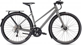 "Specialized Sirrus Elite EQ Step-Through Black Top LTD 28"" Fitnessbike bici completa da donna . satin sterling grey/black mod. 2020"