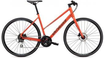 "Specialized Sirrus 2.0 Step-Through 28"" Fitnessbike 整车 女士 型号 gloss vivid coral/summer blue/satin black reflective 款型 2020"