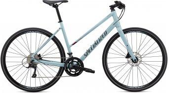 "Specialized Sirrus 3.0 Step-Through 28"" Fitnessbike 整车 女士 型号 gloss summer blue/metallic crimson/black reflective 款型 2020"