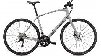 Specialized Sirrus 4.0 28 Fitnessbike 整车 型号 XS satin flake silver/charcoal/black reflective 款型 2021- 样品/演示品- 擦痕 于 座管