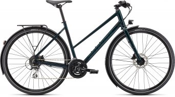 "Specialized Sirrus 2.0 EQ Step-Through 28"" Fitness Komplettrad Damen gloss forest green/black reflective Mod. 2022"