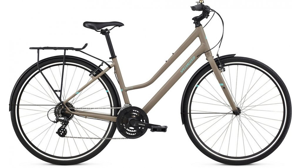 Specialized Alibi Sport EQ Step Through 28 Trekking Komplettrad Gr. L taupe/light turquoise/black Mod. 2019
