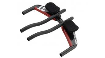 3T Brezza Team UD-Carbon Triathlon manubrio 31.8x400mm nero/rosso