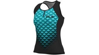 Alé Hexa Solid Tank Top no sleeve ladies size XS black/turquoise