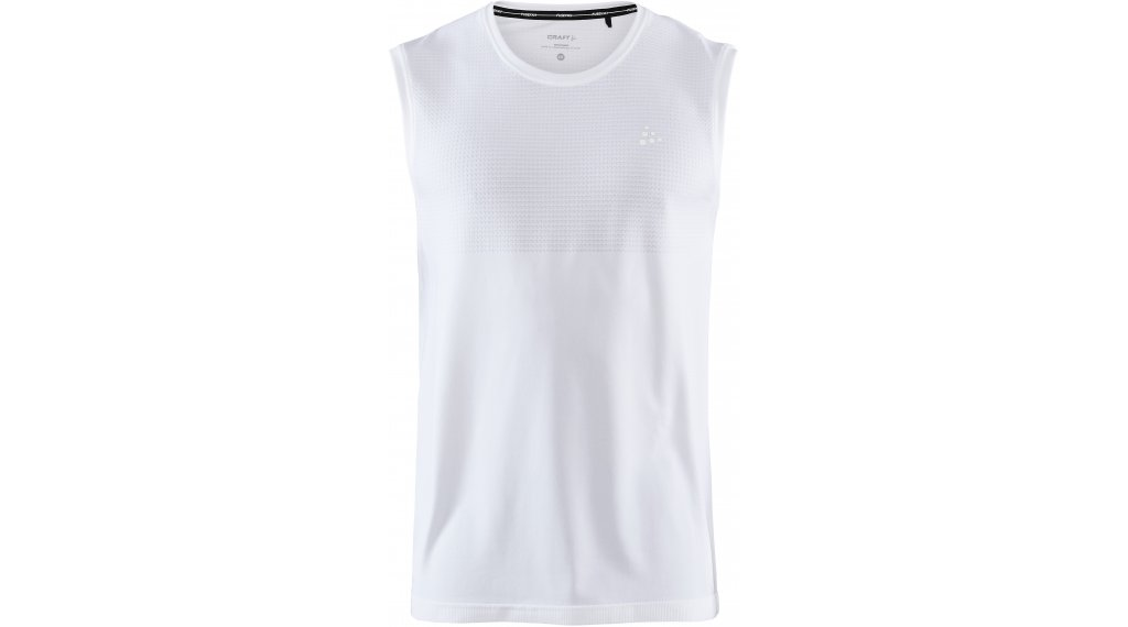 Craft Fuseknit Light Roundneck SL Tank Top ärmellos Herren Gr. S white
