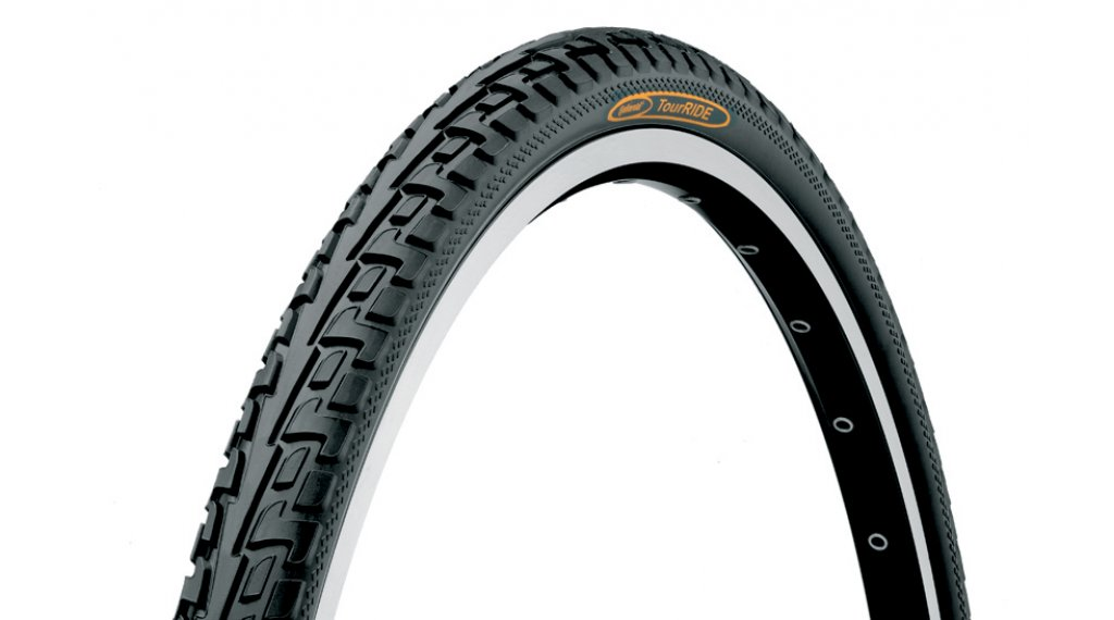 "Continental RIDE Tour 28"" Extra Puncture Belt Touring-钢丝胎 42-622 (28 x 1.6) 黑色/黑色 3/180tpi ECO25"