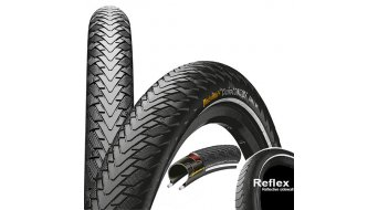 Continental CruiseCONTACT Safety system Breaker Touring-City bike- wire bead tire 55-622 (28x2.2) black 3/180tpi m. Reflex stripes