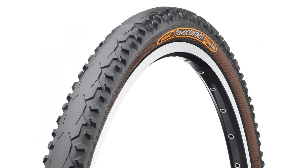 Continental TravelCONTACT SafetySystemBreaker Touring-Citybike-钢丝胎 47-559 (26x1.75) 黑色 3/180tpi