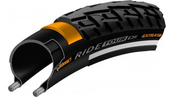 "Continental RIDE Tour 26"" Extra Puncture Belt Touring-钢丝胎 54-584 (26 x 1 1/2 x 2) 黑色/黑色 3/180tpi ECO25"