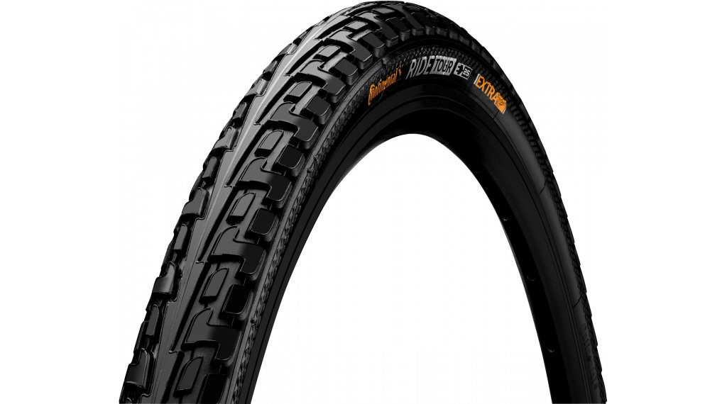 "Continental RIDE Tour 28"" Extra Puncture Belt Touring-钢丝胎 32-622 (28 x 1 1/4 x 1 3/4) 黑色/黑色 3/180tpi ECO25"