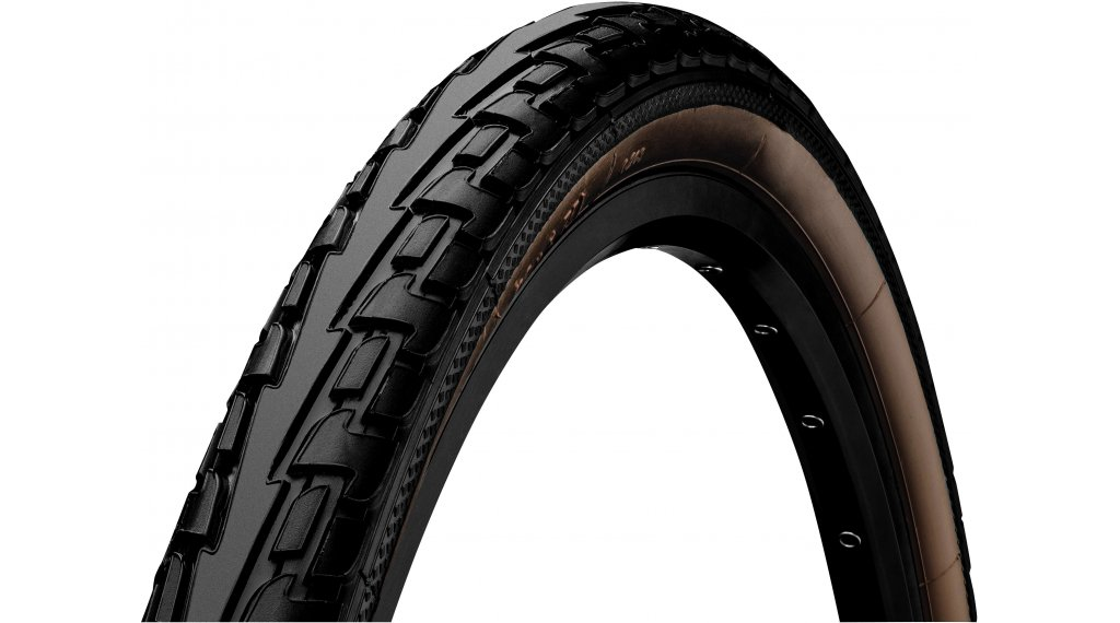 "Continental RIDE Tour 28"" Extra Puncture Belt Touring-钢丝胎 47-622 (28 x 1.75) 黑色/褐色 3/180tpi ECO25"
