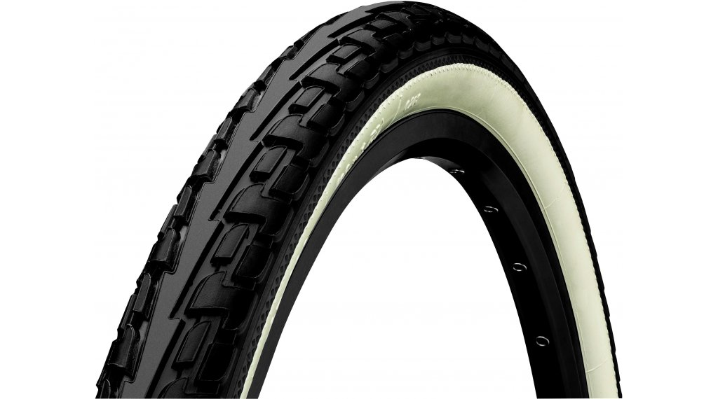 "Continental RIDE Tour 28"" Extra Puncture Belt Touring-钢丝胎 37-622 (28 x 1 3/8 x 1 5/8) 黑色/白色 3/180tpi ECO25"