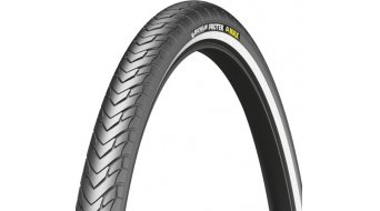 Michelin Protek Max wire bead tire black reflecting