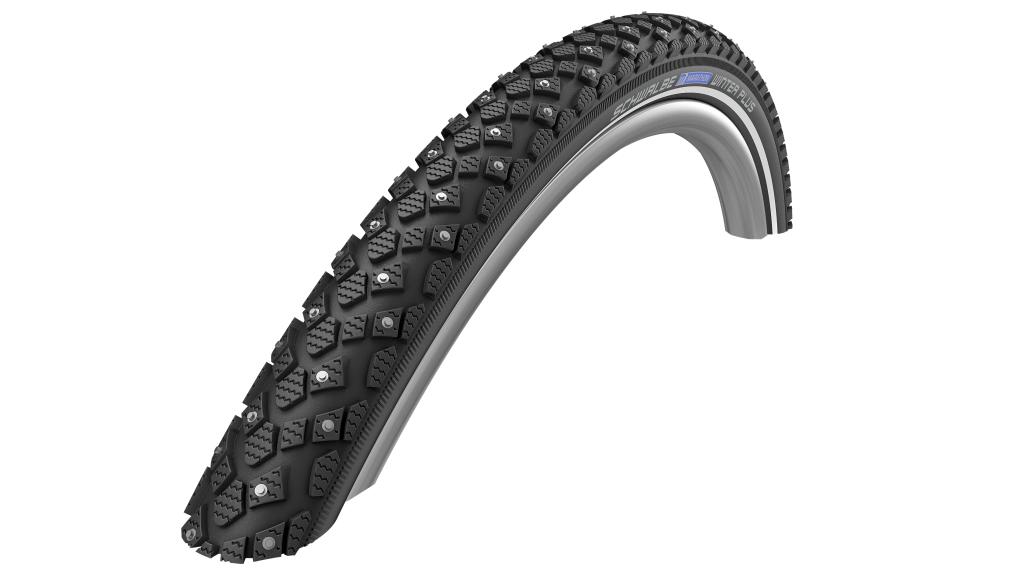 "Schwalbe Marathon winter Plus 20"" wire bead tire Performance Twin-Skin SmartGuard 42-406 (20x1.60) winter-compound black-reflex"