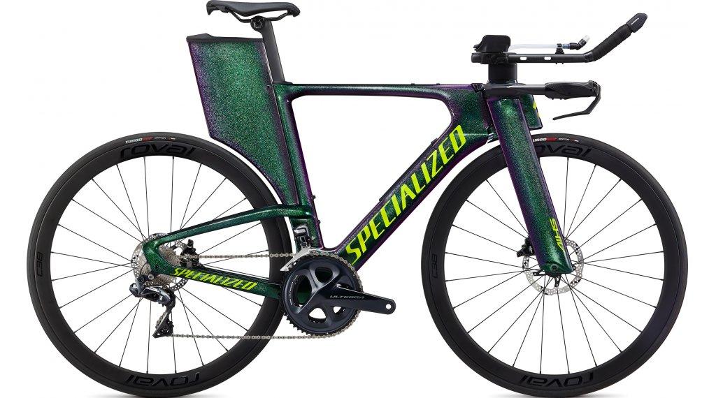 Specialized Shiv Expert Disc Ultegra Di2 28″ Triathlon bici completa . gloss verde chameleon/hyper verde mod. 2020
