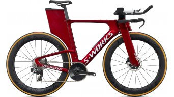 "Specialized S-Works Shiv Disc SRAM Red eTAP AXS 28"" Triathlon Komplettrad gloss metallic crimson/chrome/clean Mod. 2020"