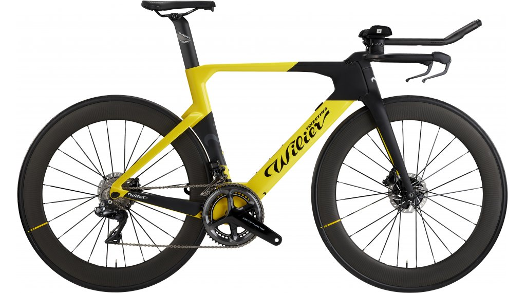 "Wilier Turbine 28"" Triathlon bike Shimano Dura Ace Di2 /  Mavic Comete size XS/S yellow/black matt glossy 2021"