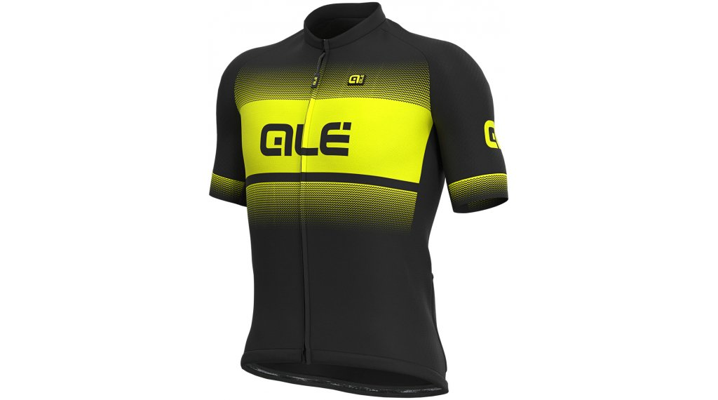 Alé Blend Solid Trikot kurzarm Herren Gr. M black/fluo yellow