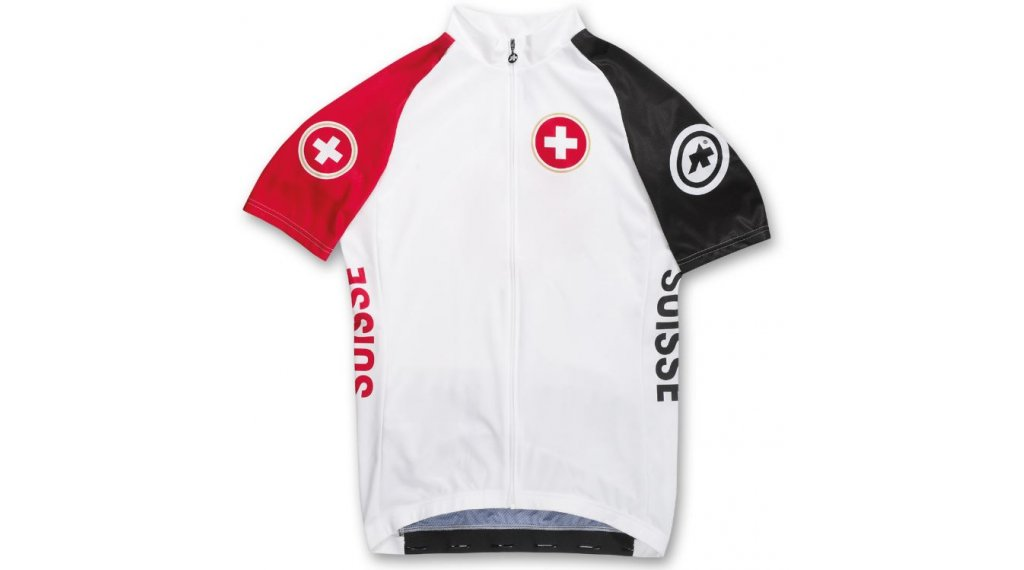 Assos SS.suisse Rio jersey short sleeve men- jersey size S white/red