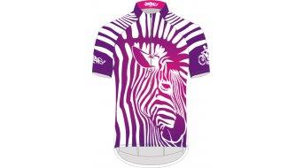 Biketags Zebra Girl Trikot kurzarm Damen purple/white