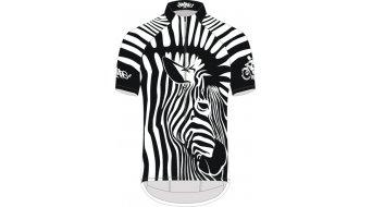 Biketags Zebra Boy Trikot kurzarm Herren black/white
