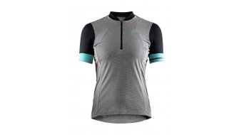 Craft Point Jersey Fahrradtrikot Damen kurzarm Gr. M dark grey melange/galactic - Sample