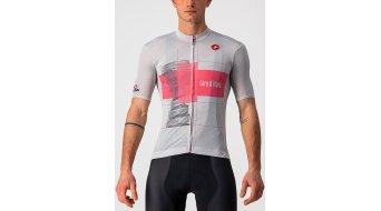 Castelli Trofeo růžová dres krátký rukáv pánské silver gray/růžová Giro