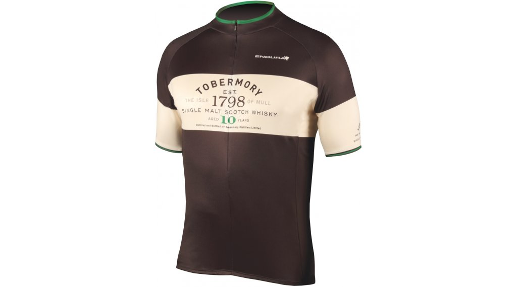 Endura Tobermory Whisky road bike- jersey short sleeve men size S black