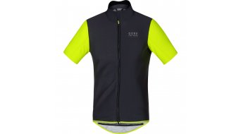 GORE Bike Wear Power jersey short sleeve men- jersey road bike Windstopper Soft Shell size L black/neon yellow