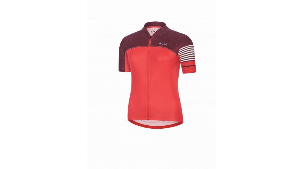 Gore C5 tricot kort dames maat.34 hibiscus pink/chestnut red