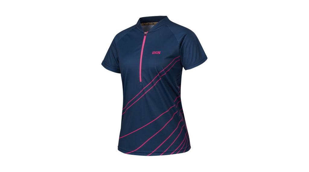 iXS Trail 6.2 Damen-Trikot kurzarm Gr. 42 night blue/pink Mod. 2018