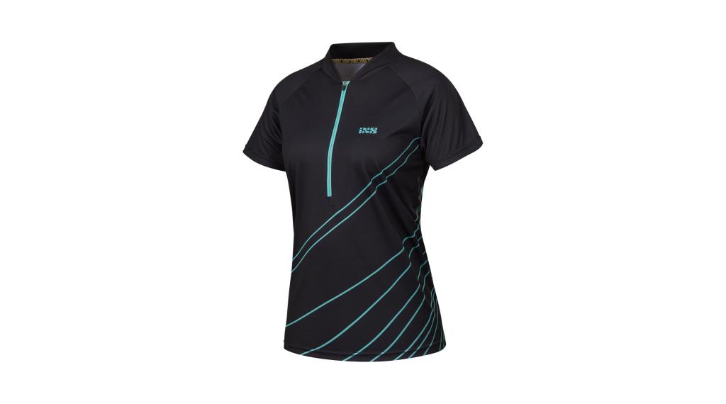 iXS Trail 6.2 Damen-Trikot kurzarm Gr. 38 black/turquoise Mod. 2018