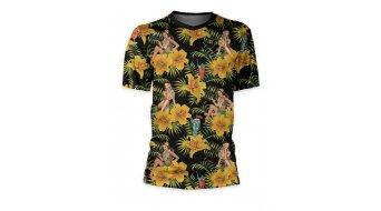Loose Riders Tiki Time S tricot korte mouw maat.#*en*#XS zwart/oranje